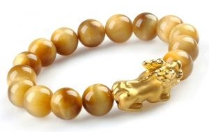 Lắc Opal Vàng Tự Nhiên Charm Tỳ Hưu