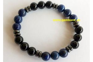 Manly: Lắc Thạch Anh Đen - Lapiz Lazuli