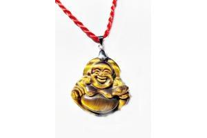 Mặt Dây Chuyền Phật Di Lặc Đá Mắt Hổ