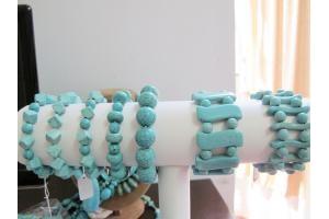 Mẫu vòng tay turquoise xanh Gembank