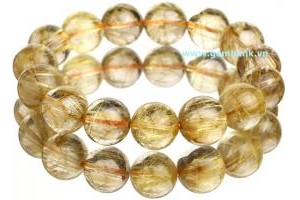 Natural Rutilated Quartz 12 mm