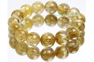 Natural Rutilated Quartz Size 14 mm