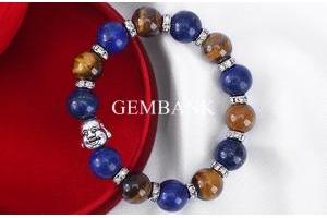 Vòng Tay Đá Lapis Lazuli - Opal Charm Phật