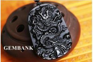 Vòng Cổ Rồng Đá Thủy Tinh Núi Lửa - Đá Obsidian Tự Nhiên