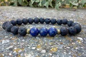 Lắc Thiên Thạch Mix Lapid Lazuli Manly
