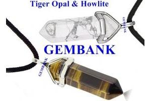 Bộ Vòng Cổ Đá Howlite - Opal Tiger Tự Nhiên