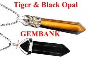 Dây Chuyền Đá Tiger & Back Opal Tự Nhiên